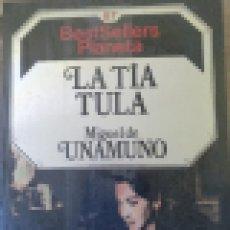 Libros de segunda mano: LA TIA TULA. - UNAMUNO, MIGUEL.. Lote 210652330