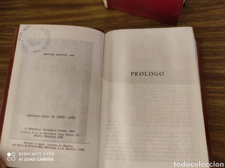 Libros de segunda mano: Aguilar. Fernandez Flórez obras completas I, III, IV, VI,VII,VIII, IX, - Foto 4 - 210674781