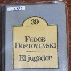 Libros de segunda mano: 37837 - EL JUGADOR - POR FERDOR DOSTOYEVSKI - Nº 39 - CLUB BRUGUERA - AÑO 1980. Lote 210713265