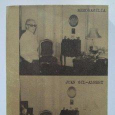 Libros de segunda mano: JUAN GIL-ALBERT: MEMORABILIA. Lote 211417631
