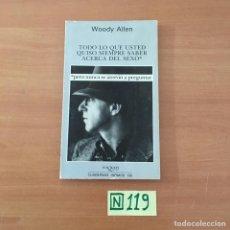 Libros de segunda mano: WOODY ALLEN. Lote 211442111