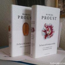 Libros de segunda mano: EN BUSCA DEL TIEMPO PERDIDO, 1 Y 2 / PROUST, MARCEL (TAPA DURA. TRAD. CARLOS MANZANO). Lote 211661065