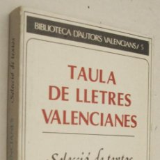 Libros de segunda mano: TAULA DE LLETRES VALENCIANES - SELECCIO DE TEXTOS DE JOSEP IBORRA - EN CATALAN. Lote 211676454