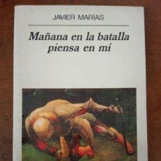 Libros de segunda mano: MAÑANA EN LA BATALLA PIENSA EN MI (JAVIER MARIAS) ANAGRAMA - SUB01J. Lote 213013850