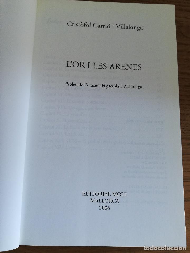 Libros de segunda mano: LOR I LES ARENES (CRISTÒFOL CARRIÓ I VILLALONGA) - Foto 2 - 213075615