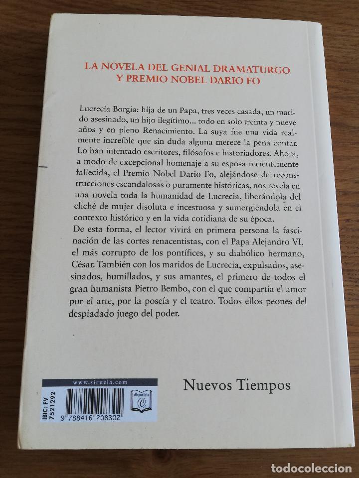 Libros de segunda mano: LUCRECIA BORGIA, LA HIJA DEL PAPA (DARIO FO) - Foto 9 - 213701297
