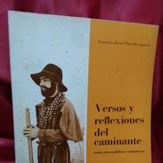 Libros de segunda mano: VERSOS Y REFLEXIONES DEL CAMINANTE, FRANCISCO JAVIER PLANELLES SEGARRA. EP-844. Lote 213719592