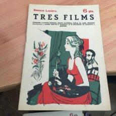 Libros de segunda mano: NOVELAS Y CUENTOS 1583 TRES FILMS (ENRIQUE LARRETA) (COIB123). Lote 213731045