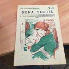 Libros de segunda mano: NOVELAS Y CUENTOS 1838 NENA TERUEL (ALVAREZ QUINTERO) (COIB123). Lote 213731510