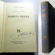 Libros de segunda mano: AGUSTÍ, IGNACIO. LA CENIZA FUE ÁRBOL. 1 : MARIONA REBULL (ÁNCORA Y DELFÍN). Lote 214115117