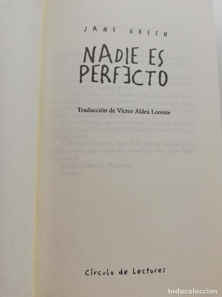 Libros de segunda mano: NADIE ES PERFECTO (JANE GREEN) - Foto 2 - 215008395