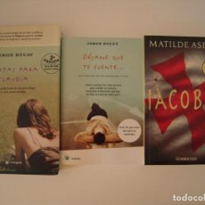 """Libros de segunda mano: """"CARTAS PARA CLAUDIA"""" Y """"DEJAME QUE TE CUENTE"""" DE JORGE BUCAY Y """"IACOBUS"""" DE MATILDE ASENSI. Lote 215502127"""