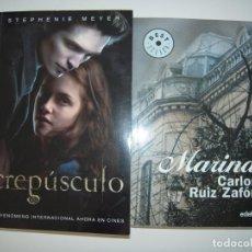 Libros de segunda mano: CREPUSCULO DE STEPHENIE MEYER Y MARINA DE CARLOS RUIZ ZAFON. Lote 215792103