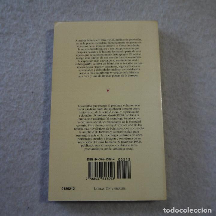 Libros de segunda mano: EL TENIENTE GUSTL / FRAU BEAUTE Y SU HIJO / EL PADRINO - ARTHUR SCHNITZLER - CÁTEDRA - 1995 - Foto 2 - 216018863