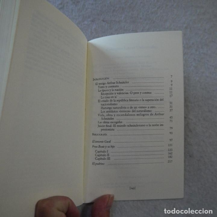 Libros de segunda mano: EL TENIENTE GUSTL / FRAU BEAUTE Y SU HIJO / EL PADRINO - ARTHUR SCHNITZLER - CÁTEDRA - 1995 - Foto 4 - 216018863