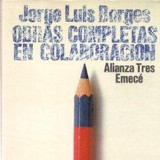 Libros de segunda mano: JORGE LUIS BORGES: OBRAS COMPLETAS EN COLABORACIÓN. 1. CON ADOLFO BIOY CASARES. (ALIANZA TRES, 1981). Lote 216719442