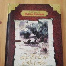 Libros de segunda mano: LA PERLA DEL RÍO ROJO (EMILIO SALGARI) COLECCIÓN AVENTURAS DE EMILIO SALGARI. Lote 217446033