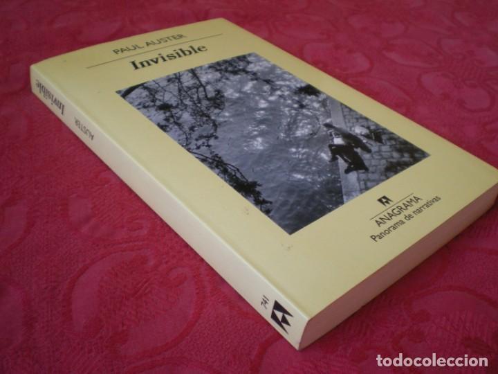 Libros de segunda mano: INVISIBLE. PAUL AUSTER. PANORAMA DE NARRATIVAS 741. ANAGRAMA. - Foto 2 - 217537678