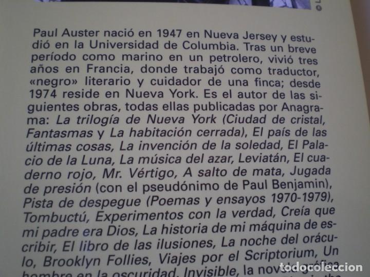 Libros de segunda mano: INVISIBLE. PAUL AUSTER. PANORAMA DE NARRATIVAS 741. ANAGRAMA. - Foto 3 - 217537678