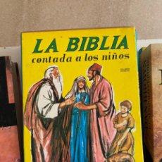 Livres d'occasion: G-36 LIBRO LA BIBLIA CONTADA A LOS NIÑOS. Lote 217549128