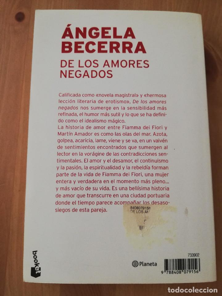 Libros de segunda mano: DE LOS AMORES NEGADOS (ÁNGELA BECERRA) - Foto 3 - 217702492