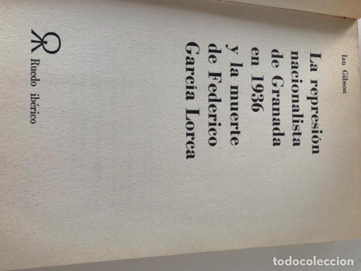 Libros de segunda mano: La represión de Granada en 1936 y la muerte de Federico García Lorca - Foto 2 - 217924175