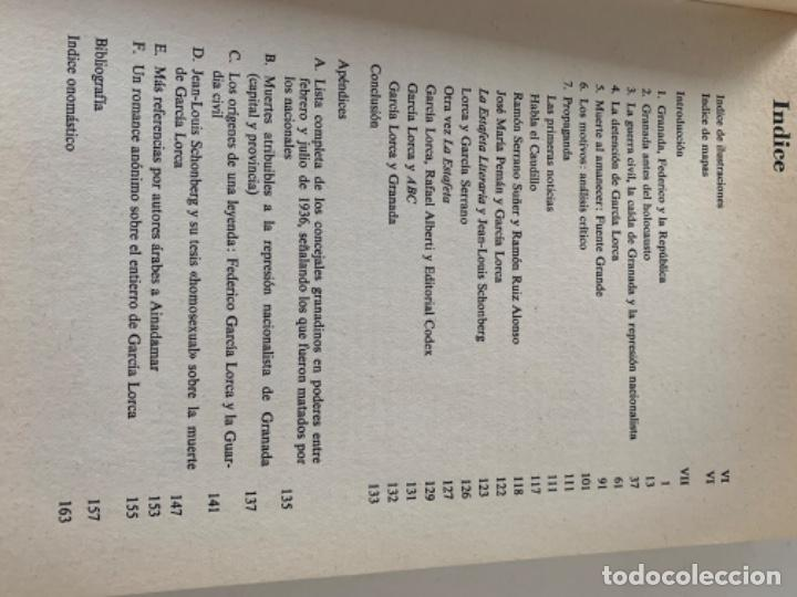 Libros de segunda mano: La represión de Granada en 1936 y la muerte de Federico García Lorca - Foto 3 - 217924175