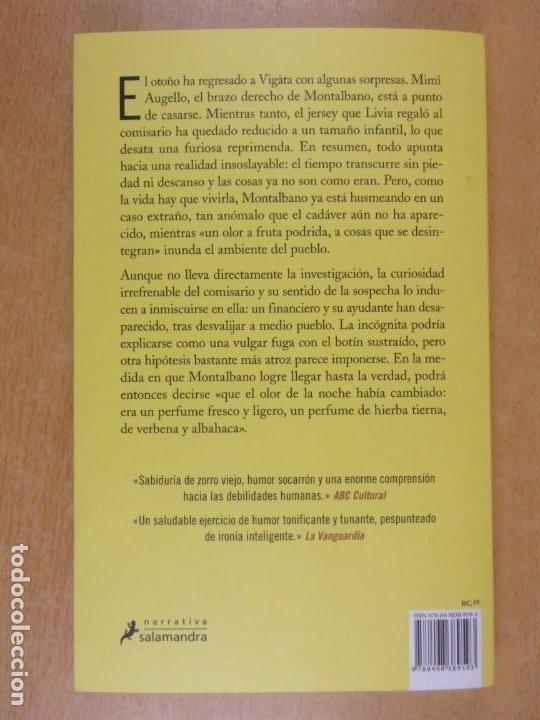 Libros de segunda mano: EL OLOR DE LA NOCHE / ANDREA CAMILLERI / 2019. SALAMANDRA - Foto 4 - 217962510
