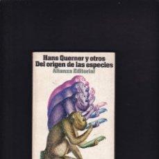 Libros de segunda mano: DEL ORIGEN DE LAS ESPECIES - HANS QUERNER....- ALIANZA EDITORIAL 1971. Lote 218410310