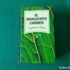 Libros de segunda mano: EL MANUSCRITO CARMESÍ - ANTONIO GALA - RBA - AÑO 1992. Lote 218746602