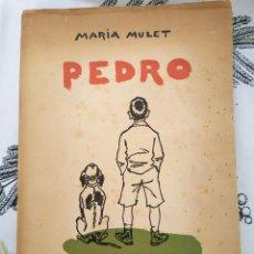 Libros de segunda mano: PEDRO DIARIO DE UN NIÑO LIBRO DE LECTURAS ESCOLARES MARIA MULET PRIMERA EDICION 1956 ILUSTRA PEDRO D. Lote 218844075
