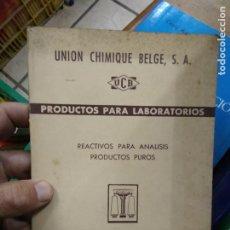 Libros de segunda mano: PRODUCTOS PARA LABORATORIOS, REACTIVOS PARA ANÁLISIS PRODUCTOS PUROS. 1955. L.19173-58. Lote 219060801