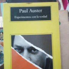 Libros de segunda mano: EXPERIMENTOS CON LA VERDAD, PAUL AUSTER, ED. ANAGRAMA. Lote 219374127