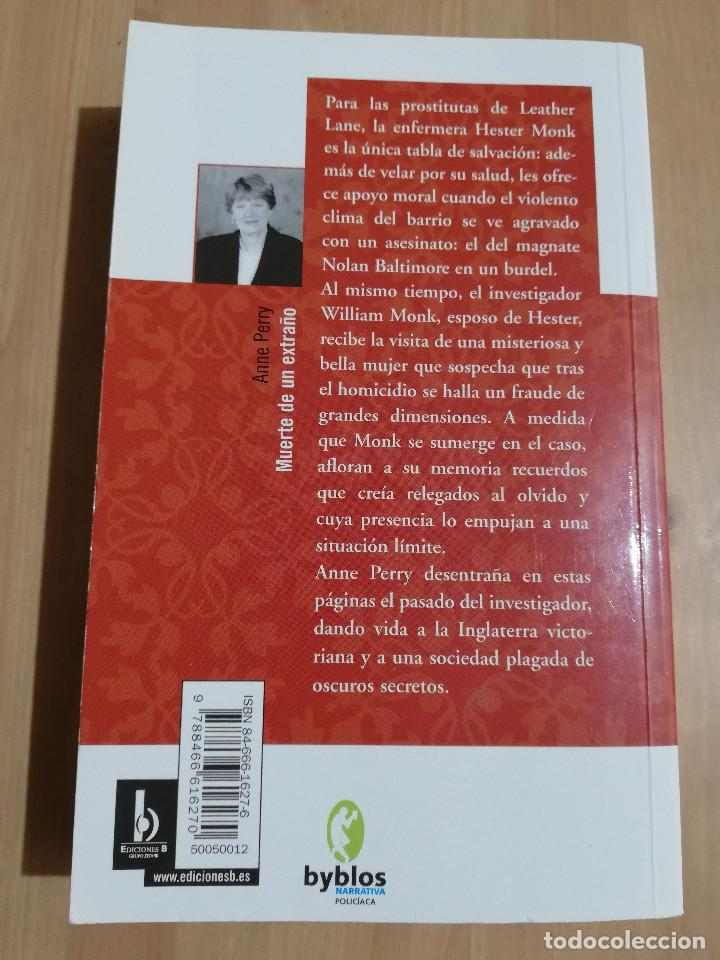 Libros de segunda mano: MUERTE DE UN EXTRAÑO (ANNE PERRY) - Foto 3 - 220433206