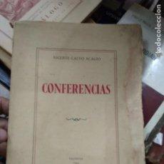 Libros de segunda mano: CONFERENCIAS, VICENTE CALVO ACACIO. L.16184-750. Lote 220833410