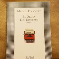 Libros de segunda mano: MICHEL FOUCAULT - EL ORDEN DEL DISCURSO. Lote 221232042