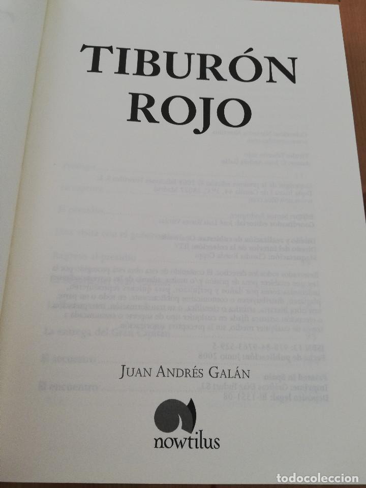 Libros de segunda mano: TIBURÓN ROJO (JUAN ANDRÉS GALÁN) - Foto 2 - 221265516