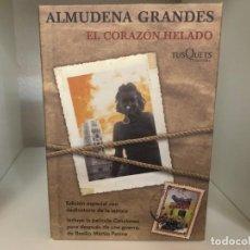 Libros de segunda mano: EL CORAZÓN HELADO. . ALMUDENA GRANDES., TUSQUETS. EDICIÓN ESPECIAL CON DEDICATORIA DE LA AUTORA. Lote 221282500