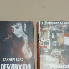 Libros de segunda mano: DOS LIBROS DE LA EDITORIAL PLANETA, AÑO 58. Lote 221617820