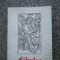Libros de segunda mano: FABULAS ILUSTRADAS CON LAS XILOGRAFIAS DEL INCUNABLE DE ZARAGOZA ( 1489 ) --. Lote 221711677