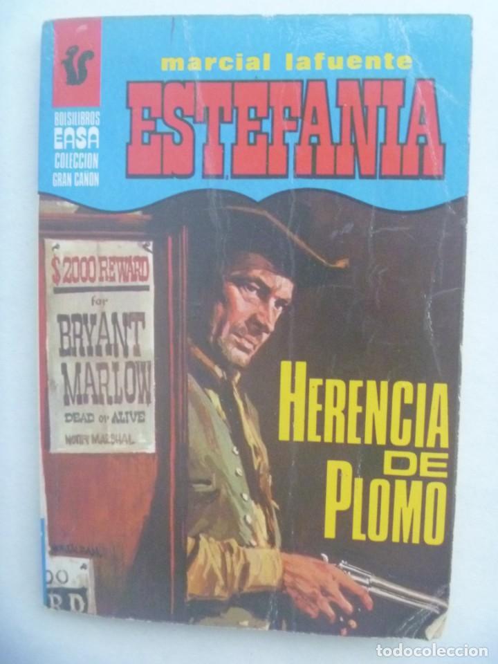 PEQUEÑA NOVELA DEL OESTE DE MARCIAL LAFUENTE ESTEFANIA : HERENCIA DE PLOMO . EDITORIAL AMERICA 1978 (Libros de Segunda Mano (posteriores a 1936) - Literatura - Narrativa - Otros)