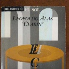 Libros de segunda mano: EL CABALLERO DE LA MESA REDONDA (LEOPOLDO ALAS CLARIN) BIBLIOTECA EL SOL. Lote 221724022