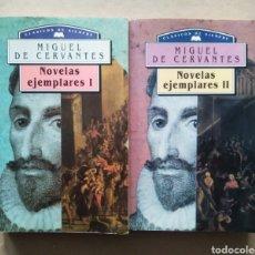 Libros de segunda mano: LOTE NOVELAS EJEMPLARES I Y II, POR MIGUEL DE CERVANTES (FRAILE/MATEOS/M.E., 1994).. Lote 221742001