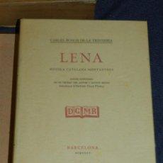 Libros de segunda mano: (MF) CARLES BOSCH DE LA TRINXERIA - LENA NOVELA CATALANA MONTANYESA , BOXOS ORIGINALS OLLE PINELL. Lote 221753507