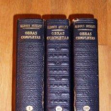 Libros de segunda mano: HUXLEY, ALDOUS. OBRAS COMPLETAS (3 VOL.) (LOS CLÁSICOS DEL SIGLO XX). - PLAZA & JANÉS, 1967-1970. Lote 221817737