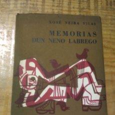 Libros de segunda mano: MEMOROAS DUN NENO LABREGO. XOSÉ NEIRA VILAS. 1961. FOLLAS NOVAS. PRIMEIRA EDICIÓN. Lote 221877788