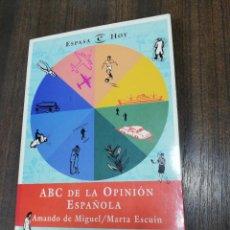 Libros de segunda mano: ABC DE LA OPINION ESPAÑOLA. AMANDO DE MIGUEL/ MARTA ESCUIN. ESPASA. 1997.. Lote 221877866