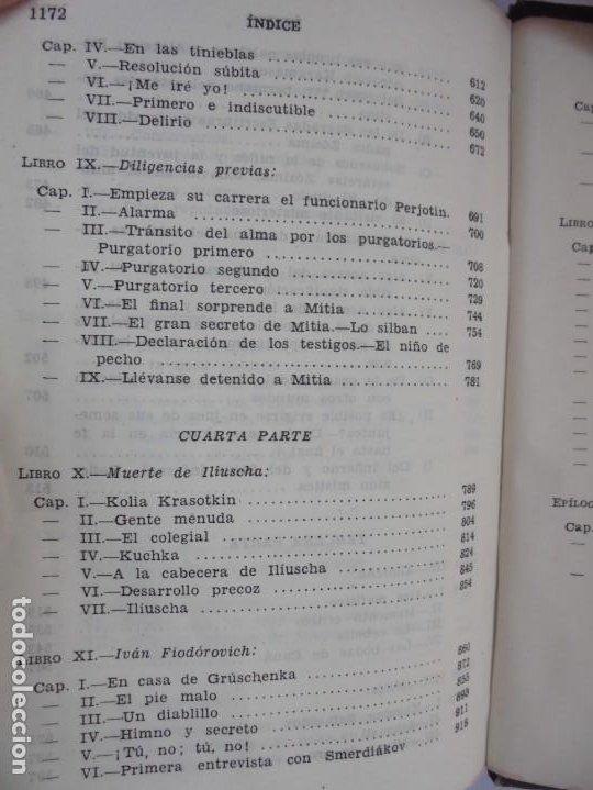 Libros de segunda mano: DOSTOYEVSKI. LOS HERMANOS KARAMOSOVI. EDITORIAL AGUILAR. 1953. VER FOTOGARFIAS ADJUNTAS - Foto 16 - 222353751