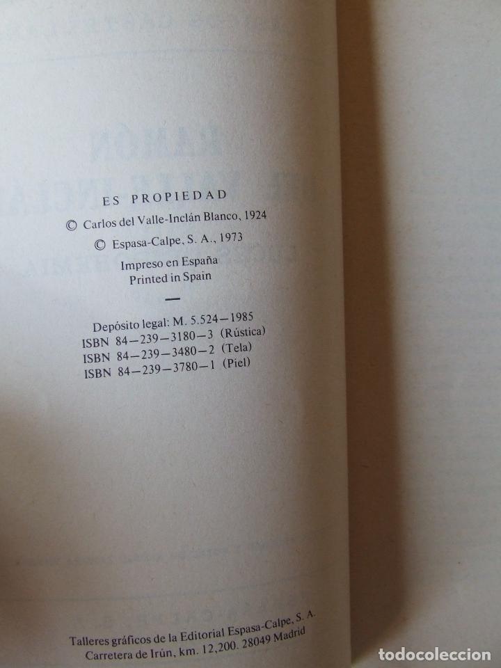 Libros de segunda mano: LUCES DE BOHEMIA RAMON DEL VALLE-INCLÁN ESPASA-CALPE 1973 5ª EDICIÓN ALONSO ZAMORA VICENTE - Foto 3 - 222419108