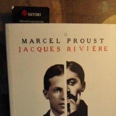 Libros de segunda mano: MARCEL PROUST. JACQUES RIVIÈRE. CORRESPONDENCIA 1914-1922. Lote 222726962